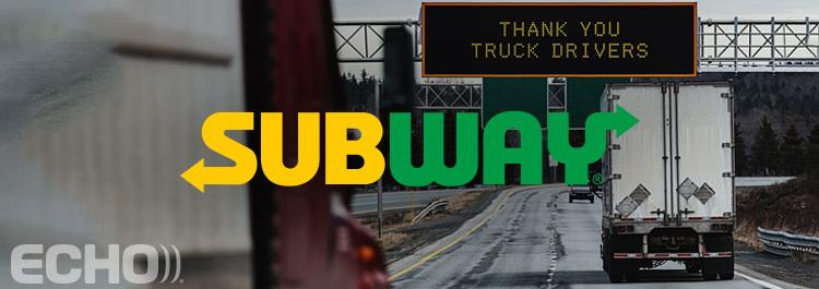 Thank you truck drivers - subway campaign